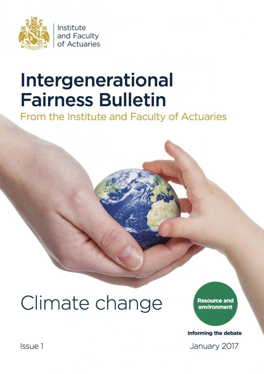 Cover of the Intergenerational Fairness Bulletin 1