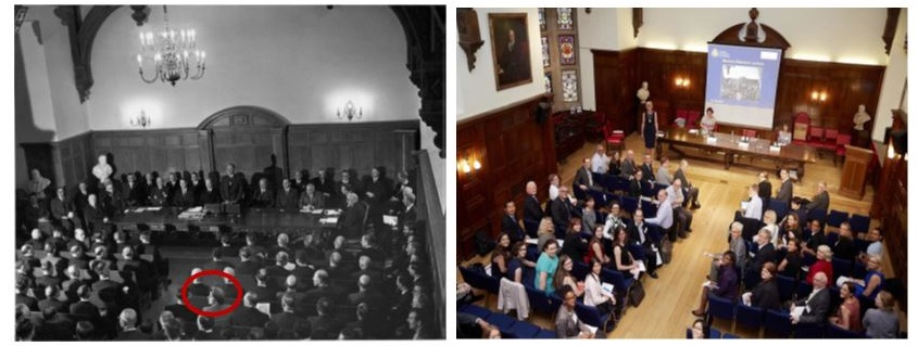 Monica Allanach, the first woman on Council is pictured below left as the sole female in the room. The photo below right, at the Monica Allanach event in 2015 is in stark contrast.