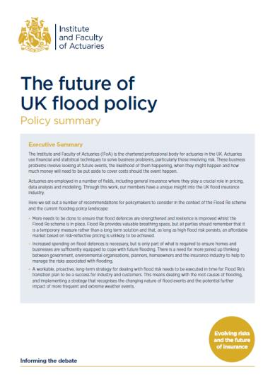 The future of UK flood policy | Institute and Faculty of