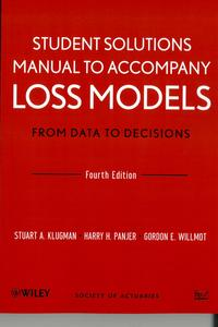 A generic image of Manual to accompany Loss models. From data to decisions. Student solutions manual (4th ed)