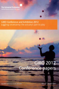 An image of General Insurance Convention (GIRO) papers 2012