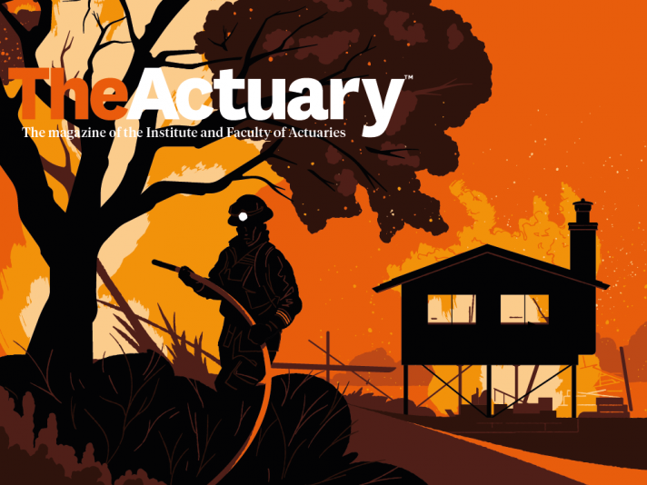 The Actuary magazine cover