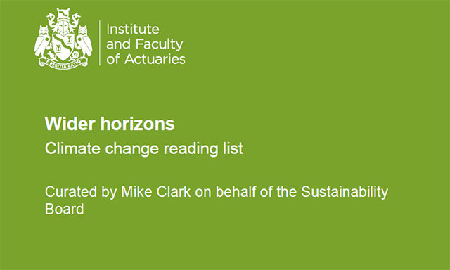 Wider horizons climate change reading list front cover