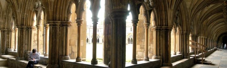 Cloisters in Norwich Cathedral