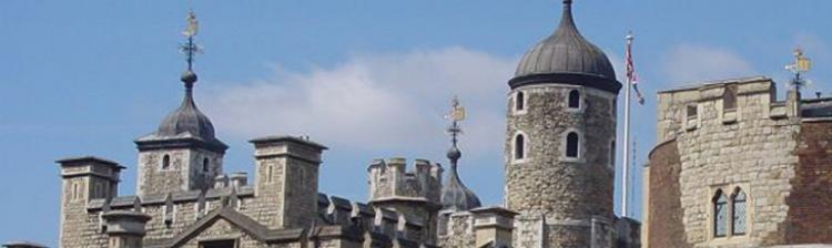Turrets on the Tower of London